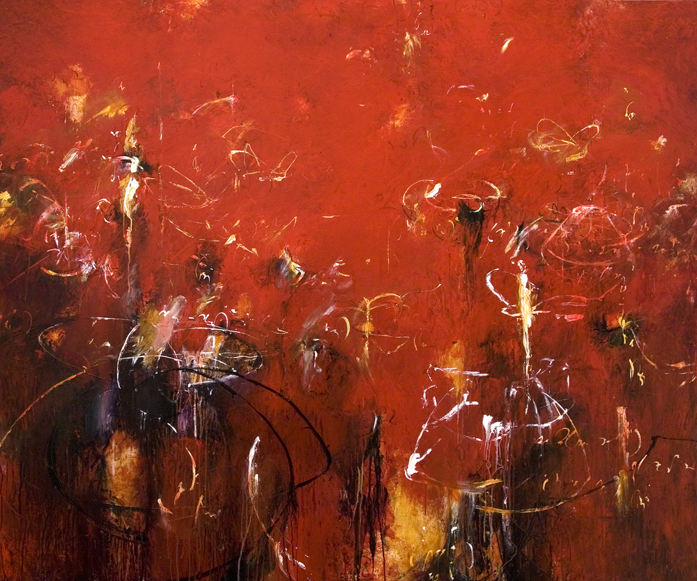 "Toroids of Apollonius 06 2009, Acrylic on canvas, 60"" x 72"""
