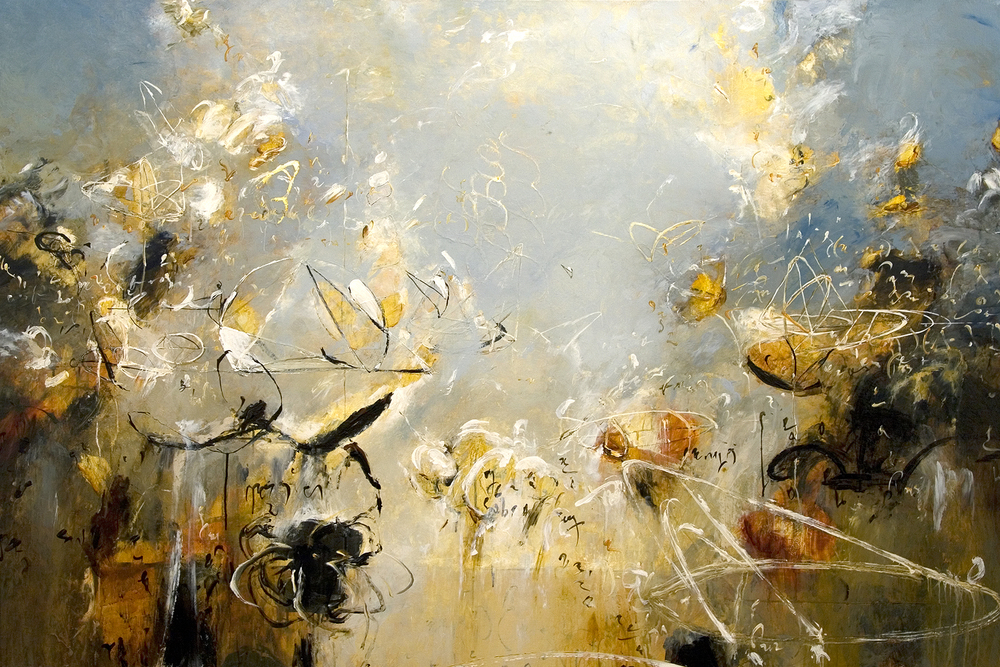 "Coronation of Apollonius 08 2010, Acrylic on canvas, 48""  x 72"""