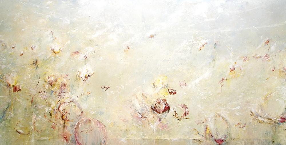 "Blossoms of Euclid 2010, Acrylic on canvas, 72"" x 144"""