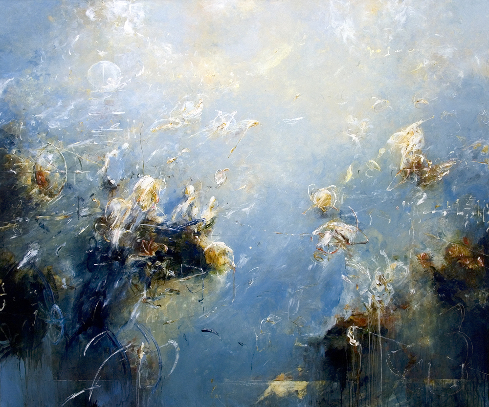 "Homage to Euclid 01 2010, Acrylic on canvas,48"" x 48"""