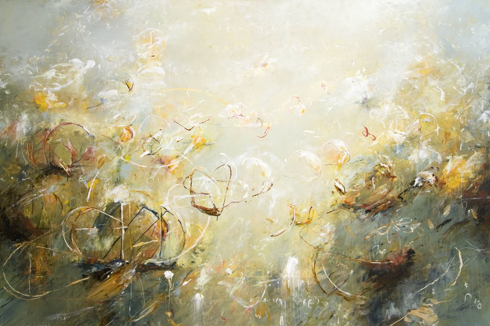 "Shoaling Waves of Alexandria 01    2011, Acrylic on canvas,  48"" x 72"""