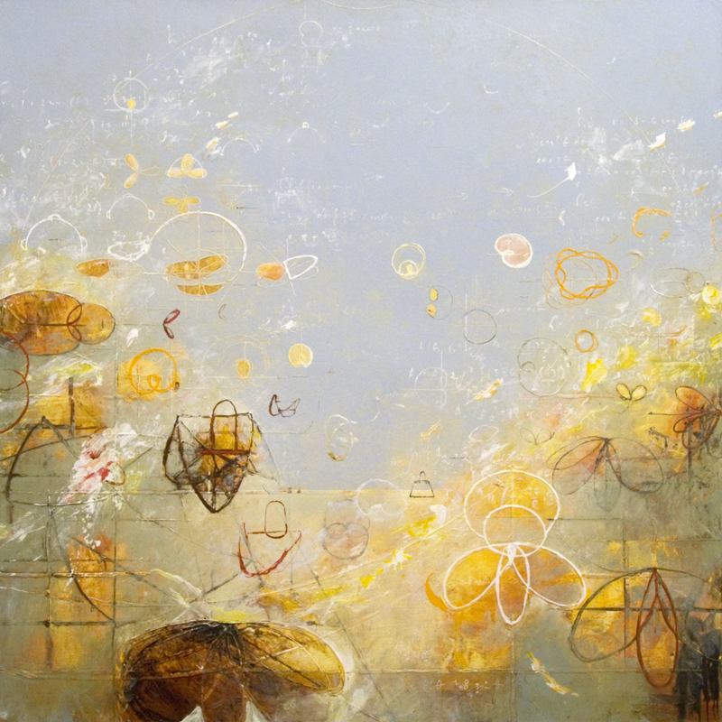 "Pythagoras Spring   2014, Acrylic on canvas, 48"" x 48"""