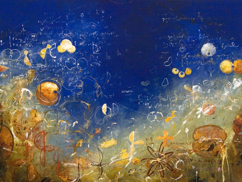"Seven Petals for Achilles  2014, Acrylic on canvas, 36"" x 48"""