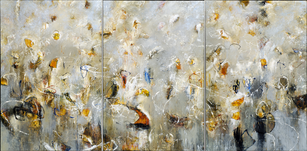 "Toroids of Ganymede 01, 02, 03 2006, Acrylic on canvas, 72"" x 144"""