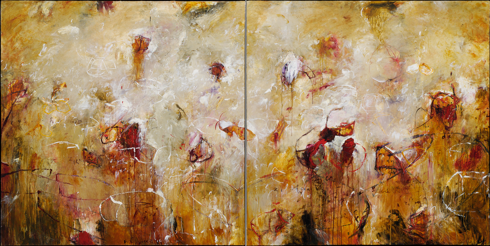 "Toroids of Ganymede 04, 05 2006, Acrylic on canvas, 48"" x 96"""