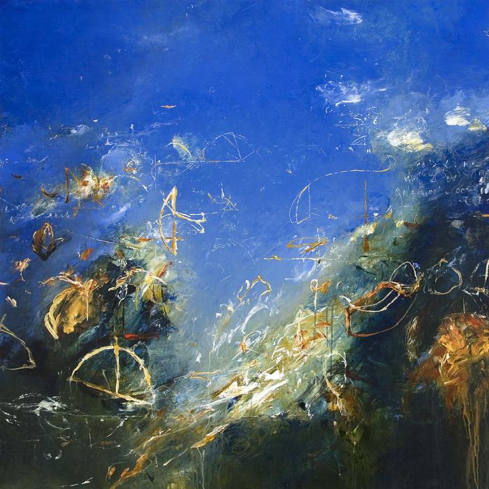 "2012 - Seas of Archimedes 01 - 48"" X 48"""