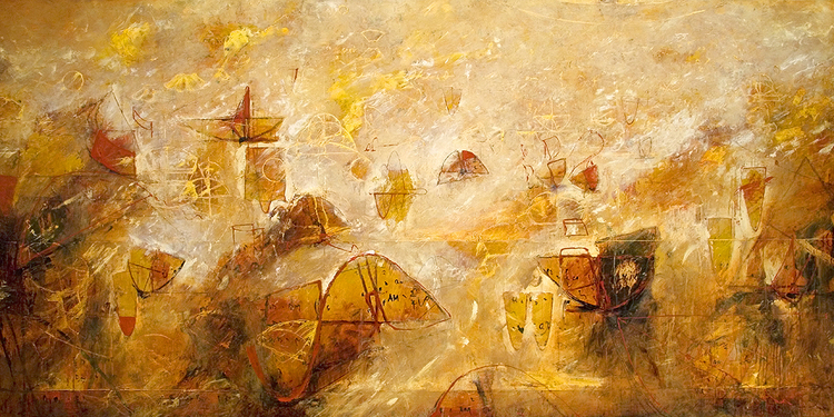 "2012 - Sonata for Archimedes - 48"" X 96"""
