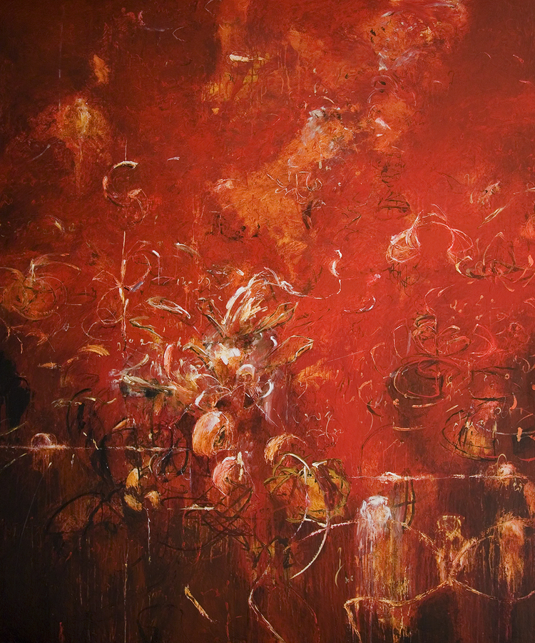 "2008 - Blossoms for Apollonius - 72"" X 60"""