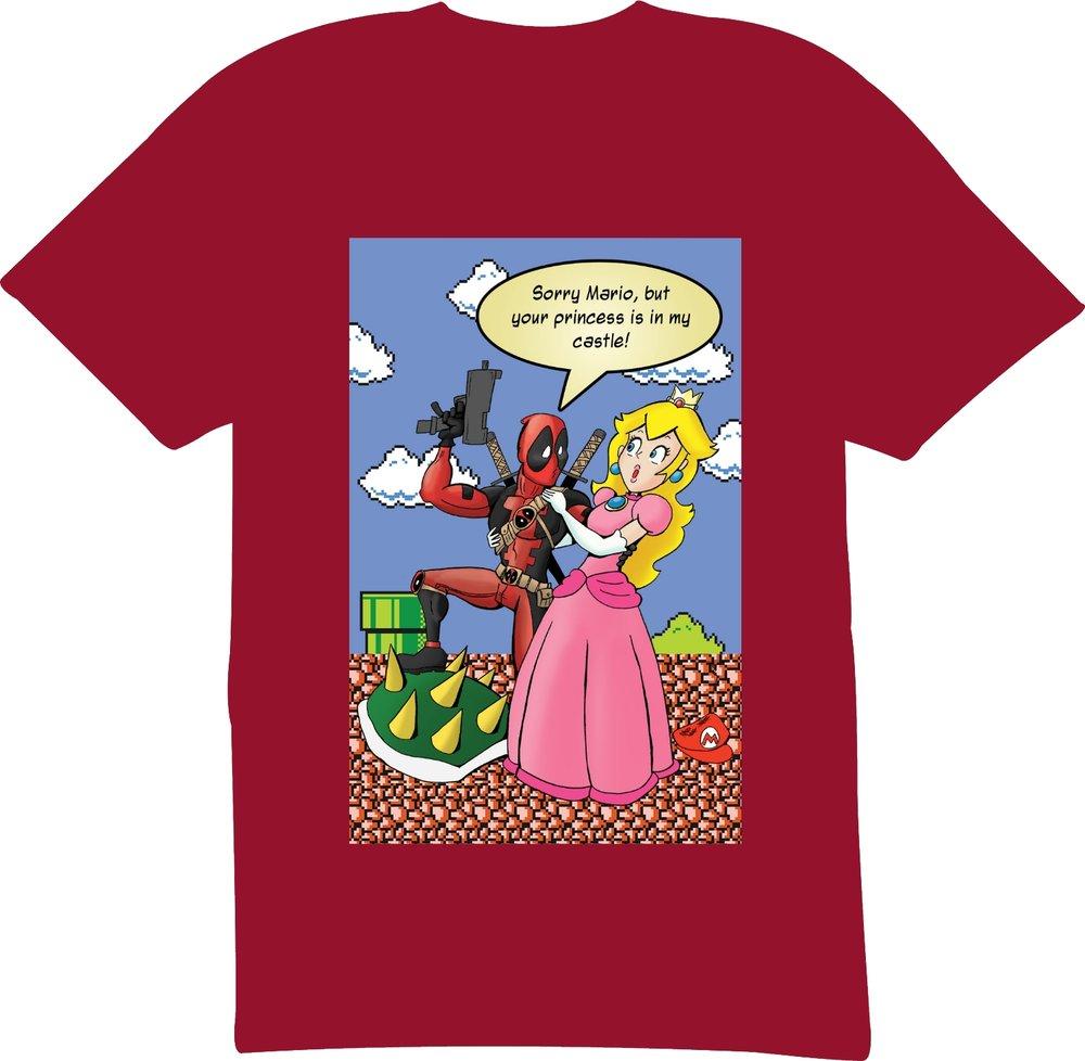 deadpool princess peach t shirt wayward raven media