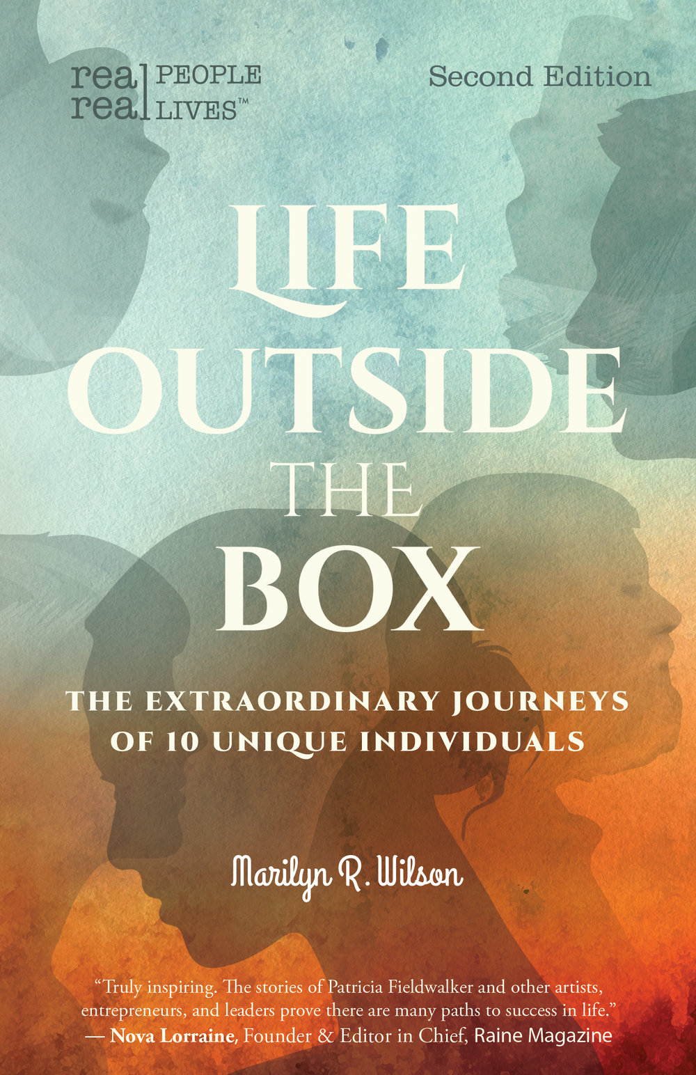 Life Outside the Box - The Extraordinary Journeys of 10 Unique Individuals, Second EditionReal stories about real people to entertain, inspire, and challenge you.This 2nd edition offers new content - the author's personal reflections on each interviewee.Get inspired to step out of your box and embrace your potential. From the corporate world, to the arts, to working with the disenfranchised, the message is clear: there is no such thing as a normal way to live your life and no one right solution to any problem.Selected from over a hundred interviews, the stories shared here open a window on the journeys of seven women and three men who have charted their own paths, including Ruthie Davis—top US luxury shoe designer and the winner of the 2014 AAFA Footwear Designer of the Year Award; and Geir Ness whose perfume is a staple in Nordstrom, Disney World, and on Disney Cruise Lines.Enjoy a glimpse behind the scenes into the unique ways these individuals have chosen to deal with life's challenges and how they define success in their careers.Check out this Q and AAvailable in Canada at Amazon.caAvailable in the US at Amazon.com and Barnes&NobleCheck out 25 reviews on Goodreads https://www.goodreads.com/book/show/23094434-life-outside-the-box