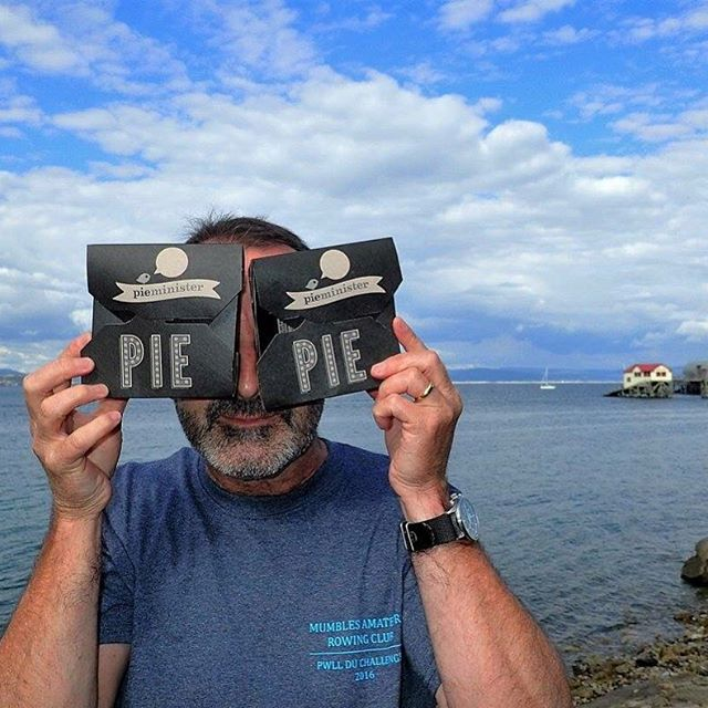 Pie eyed! You should've seen Steve's face when he realised we were having @pieminister pies! Talk about a mega fan :) #littleactsofpieness #goodtimeswithpies Thanks to #pieminister for their generous support of our race. ⚓️