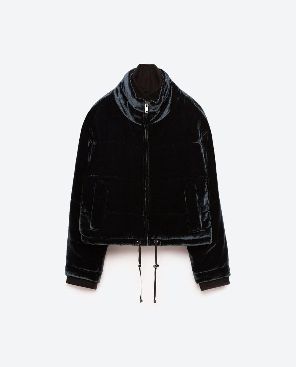 Zara Quilted Velvet Jacket