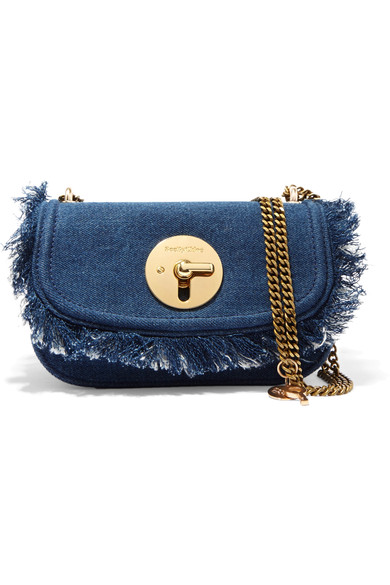 See by Chloe Lois fringed denim shoulder bag