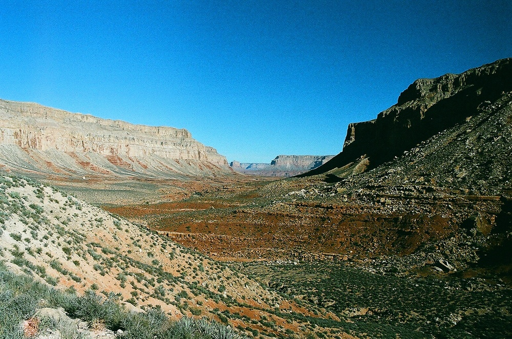 The Grand Canyon from just below the Hualapai Hilltop trailhead.