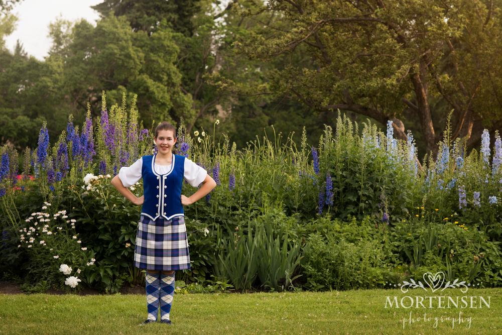highland dance portrait photography calgary