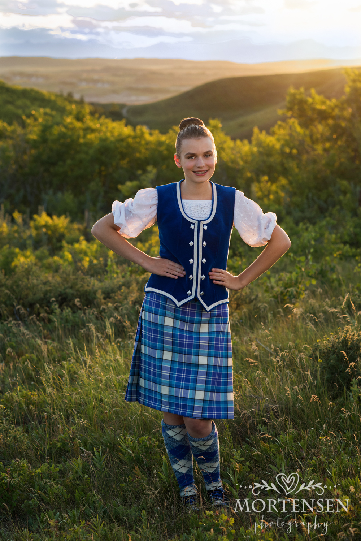 calgary portrait photography highland dance