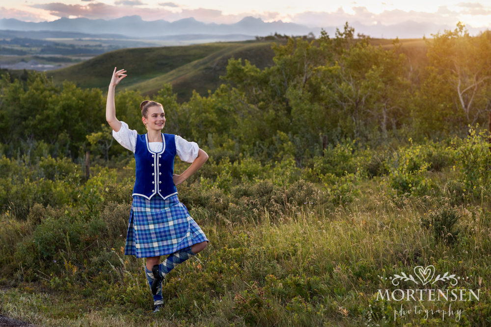 Calgary portrait photographer Highland dance