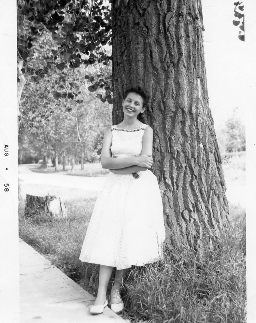 This beautiful photo of my mom was taken by my dad! He found her on his travels.