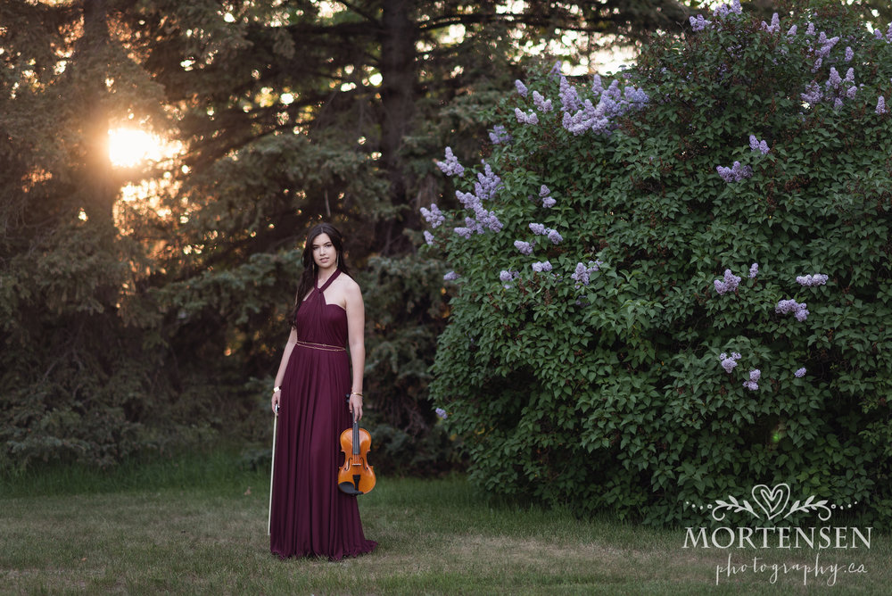 calgary high school graduation portrait photographer yyc womens glamour beauty photography violin musician