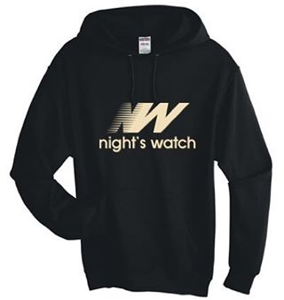"Winter is HERE! Keep warm in the frosty weather with our ""Night's Watch"" hoodie. Perfect for those trips beyond the wall. #gameofthrones #nightswatch ❄️ http://www.geekedoutfitness.com/shop/nights-watch"