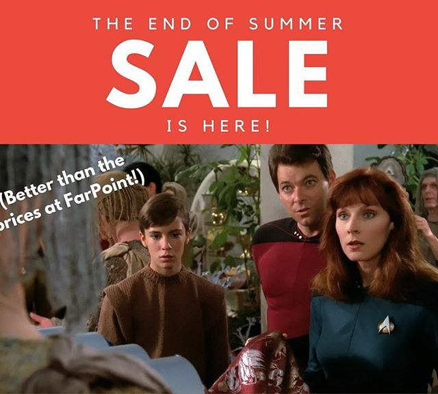Our end of summer sale is here!! Tees $10-15, tanks $20, hoodies $30. If you have been thinking about grabbing some GoF gear, now is the time! #starwars #gameofthrones #startrek #gaming #fitgeek #aliens