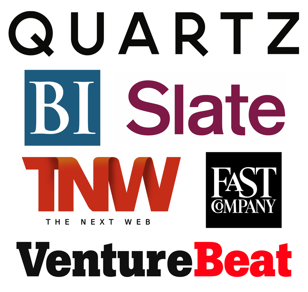 The piece was featured on  Quartz ,  Businessness Insider ,  Slate ,  The Next Web ,  Fast Company  and  Venture Beat .