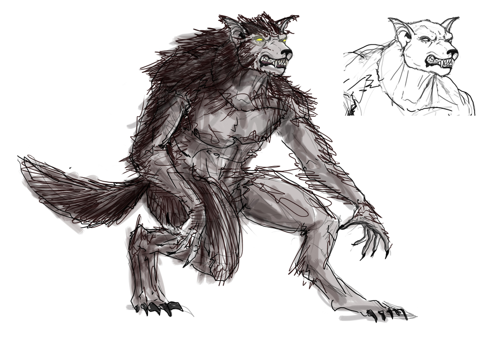 WEREWOLF & WERE-BARRY IN RIGHT-HAND CORNER