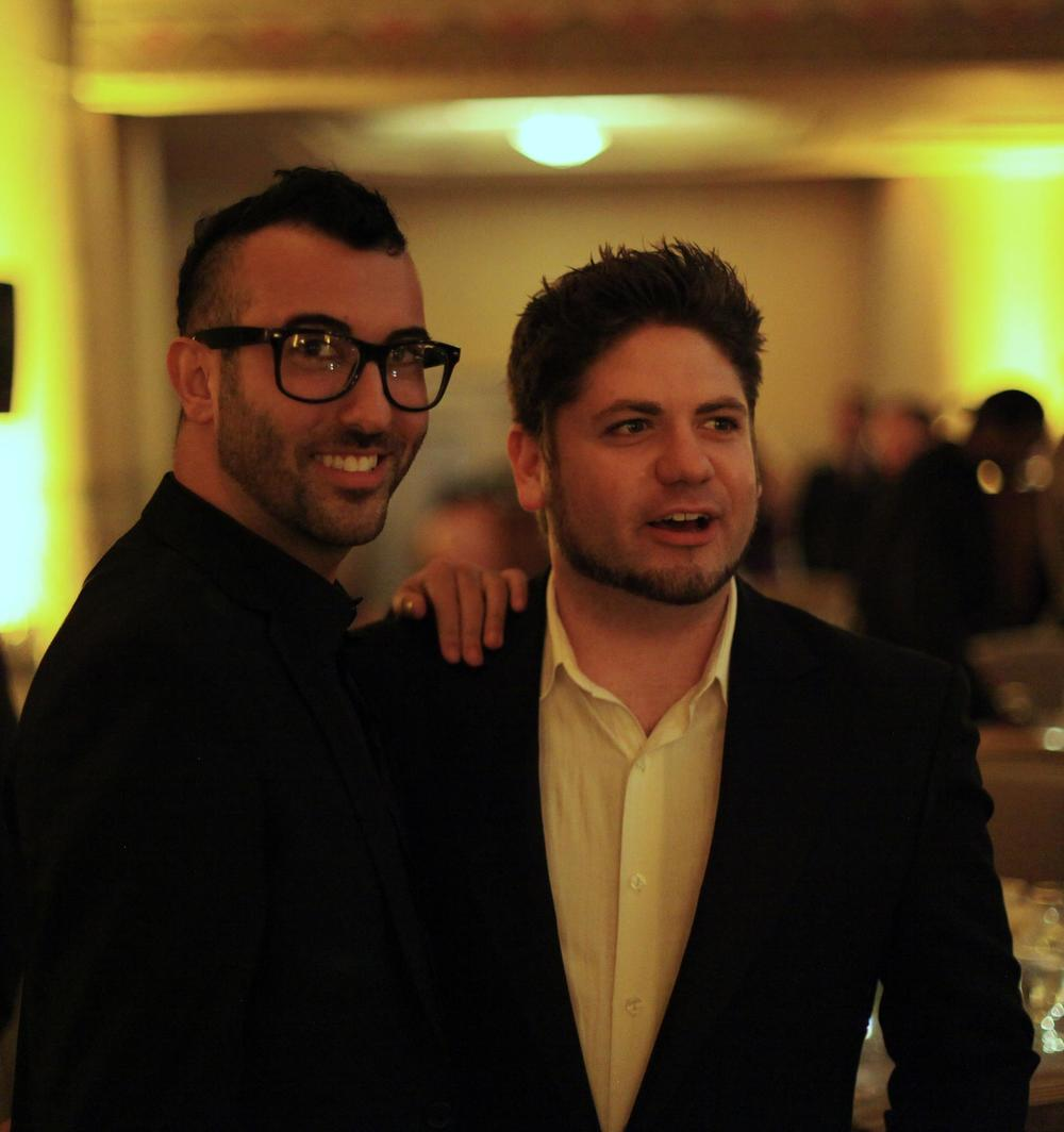 Star Barry Brandon with director Jordan Hackworth at The Heart Foundation Gala.