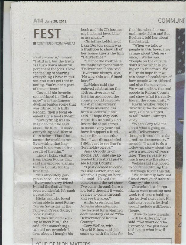 The Clayton Tribune  - page two.