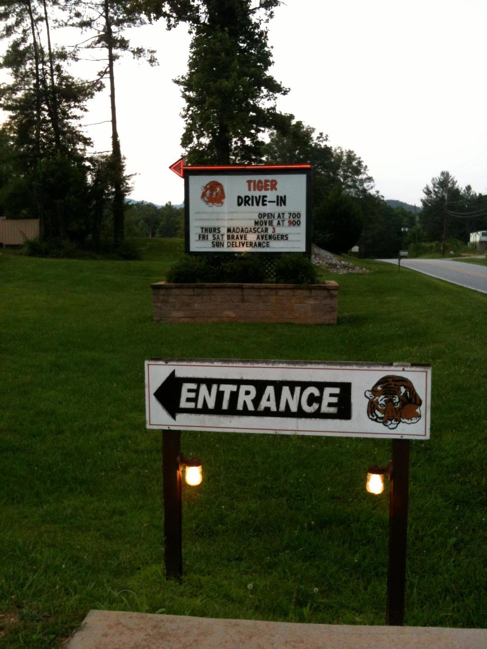 The Tiger Drive-in had a special screening of  Deliverance . One of the last true drive-in theaters.