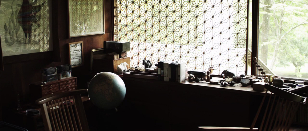 Inside Kevin Nakashima's house.