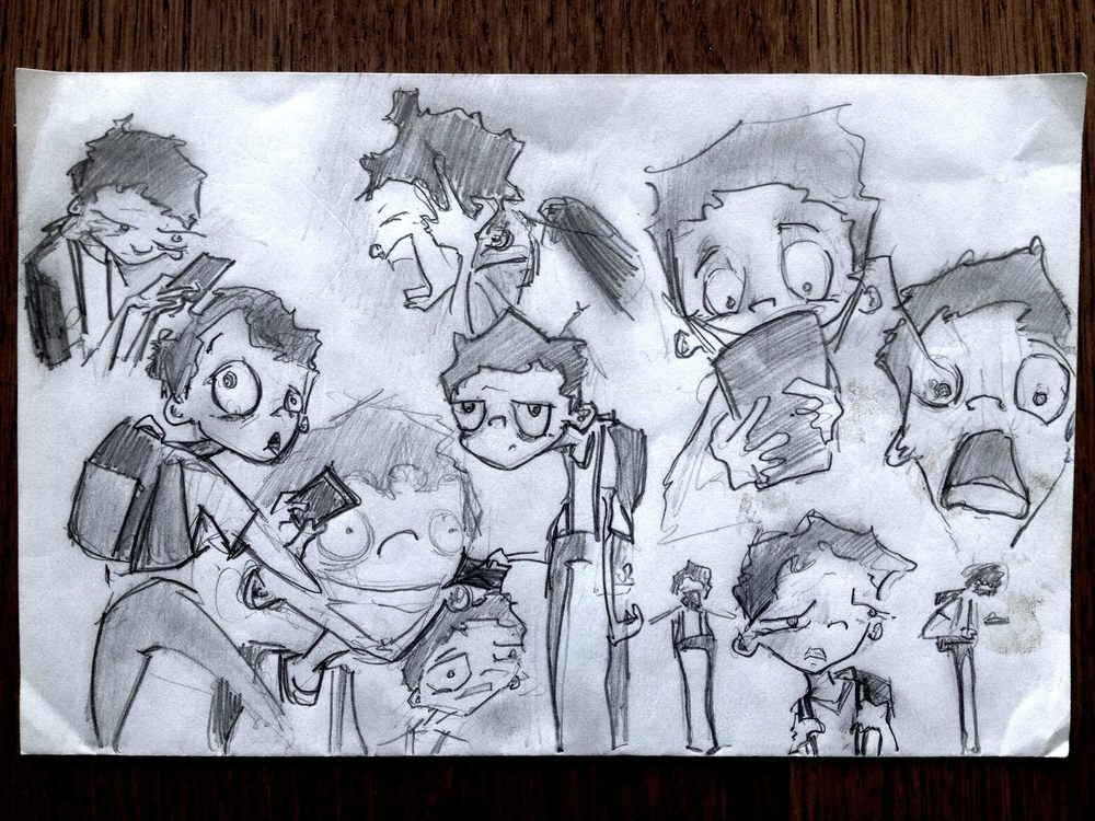 Pencil tests for Kip, the hero of our story.