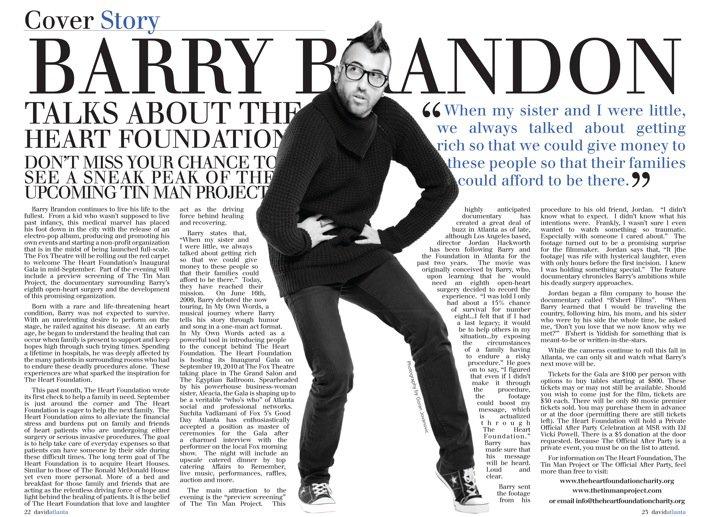 Barry's article in  Atanta David magazine -September 1st, 2010.