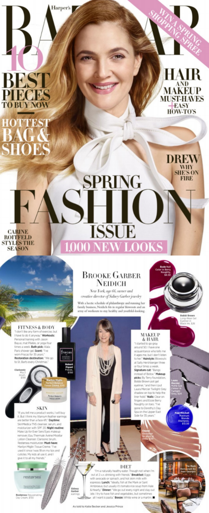"""Jason Bayus is featured in the March issue of Harper's Bazaar in an editorial titled, """"Brooke Garber Neidich."""""""