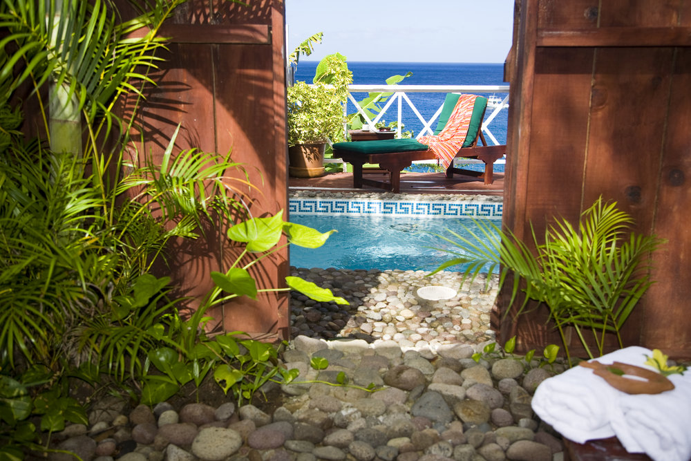 Ti Kaye - Ocean View Cottage with  Pool (Plunge pool view from open air shower).jpg
