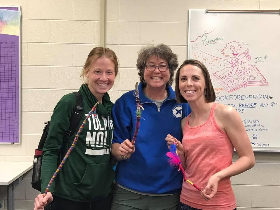 meditation sticks, GIRls athletic leadership school teacher in-service: 5/2017