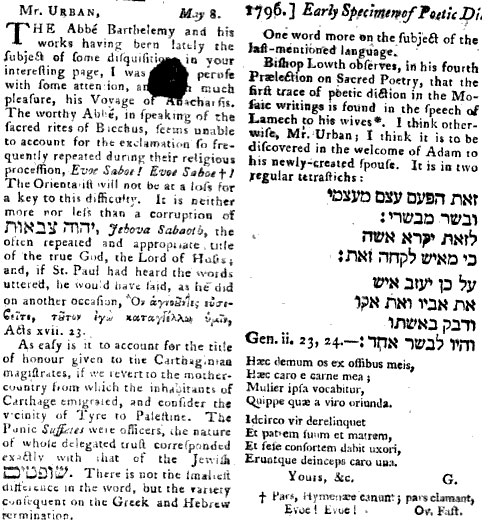 The gentleman's magazine, and historical chronicle for the year1796, Volume 66, Part 1, pp 396-7