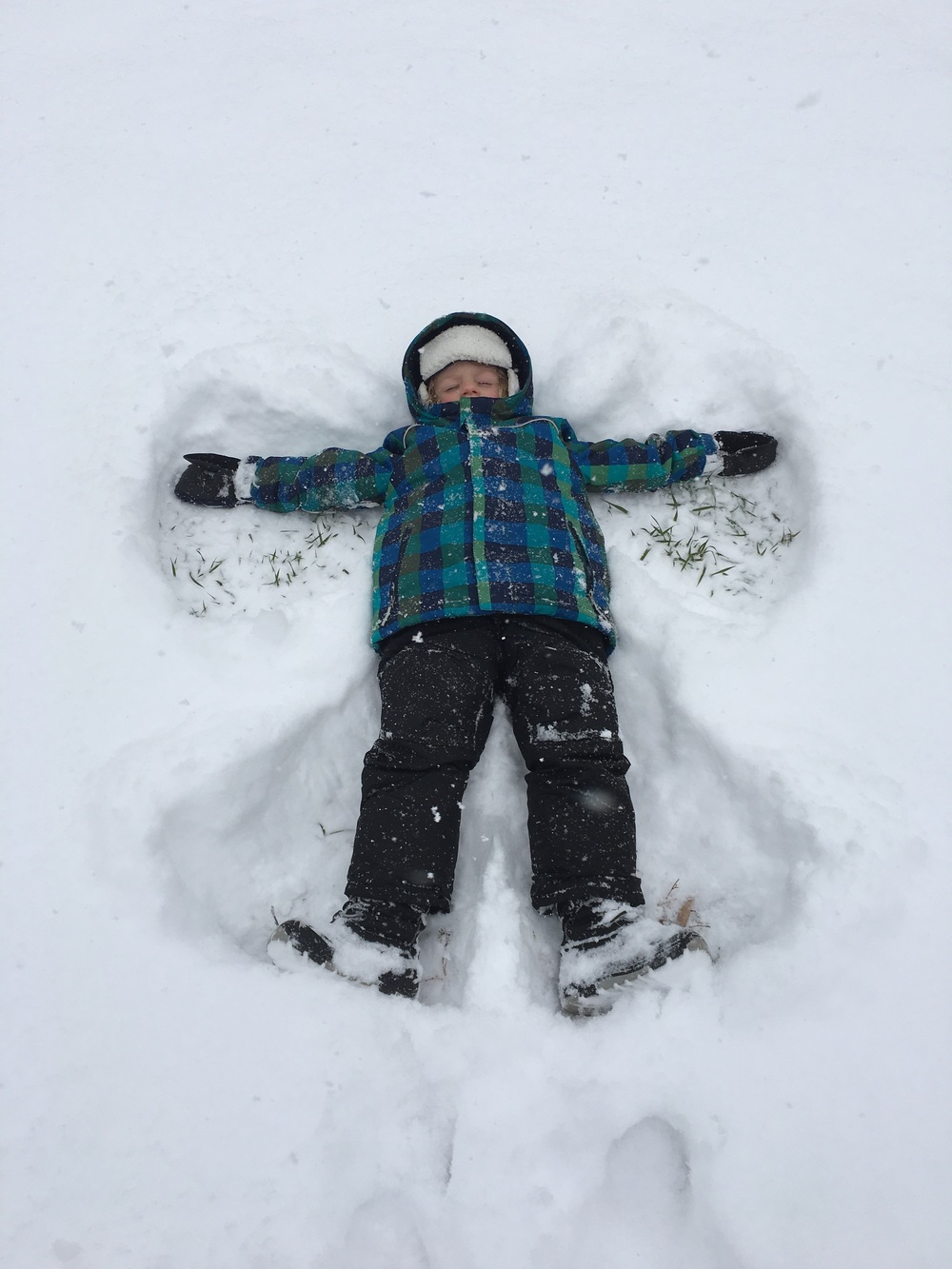Our handsome little snow angel.
