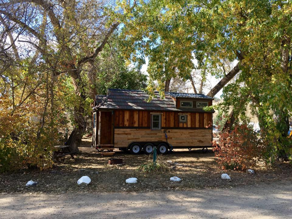 One of our first days in Loveland, Colorado in October 2015. The wait to return to full-time THOW living will be hard, but we'll be doing it with our financial ducks in a row and a fresh perspective. Viva la tiny house life!