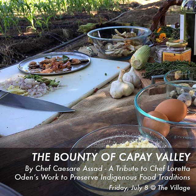 Check it out! Tickets are available for @farmtoforksf July 8 #popupdinner and fundraiser supporting @mandelamarketplace ... #nativeamerican recipes featuring ingredients from @full_belly_farm & @capayvalleygrowers  #sustainablefarming - learn more at farmtoforksf.org