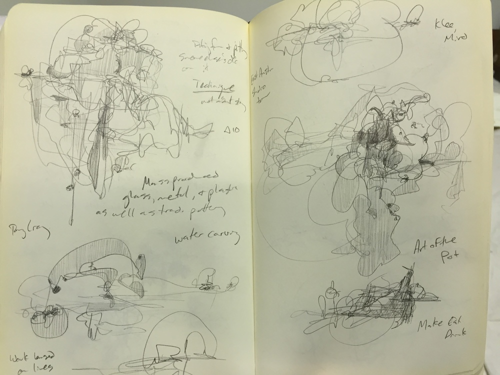 Sketches and notes from a lecture.