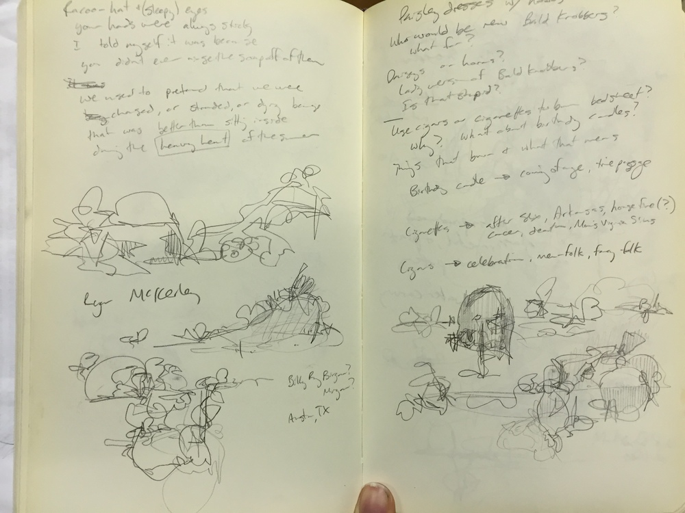 More sketches and notes from the same lecture.