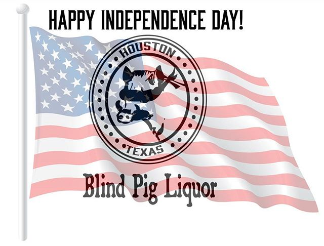 In observance of Independence Day, Blind Pig Liquor will close early at 3 pm on Wednesday, July 4. Drop in before then to pick up any essentials for your Fourth of July festivities. We will return to normal hours on July 5.  #fourthofjuly #happyindependenceday #usa #merica🇺🇸 #liquorstore #houstontx  #followtheblindpig