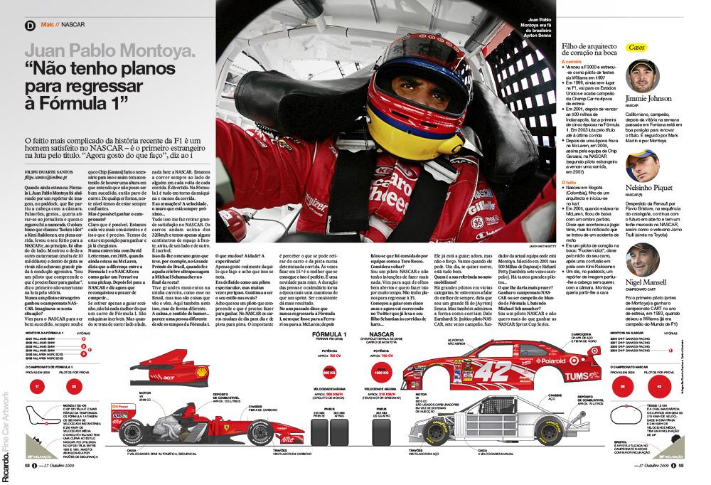 Infographic: Formula 1 car vs NASCAR car   Client: Jornal i