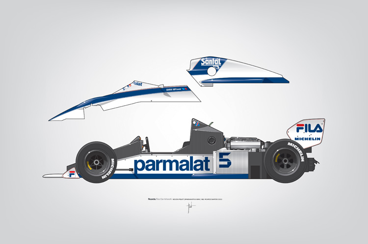 Outline Series N.º6, Nelson Piquet, Brabham BT-52 BMW, 1983