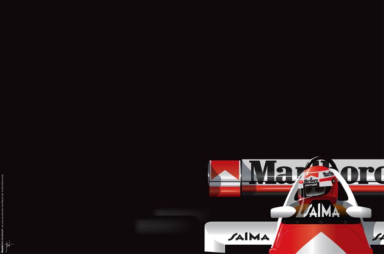 Niki Lauda, McLaren MP4/2 TAG Porsche, 1984