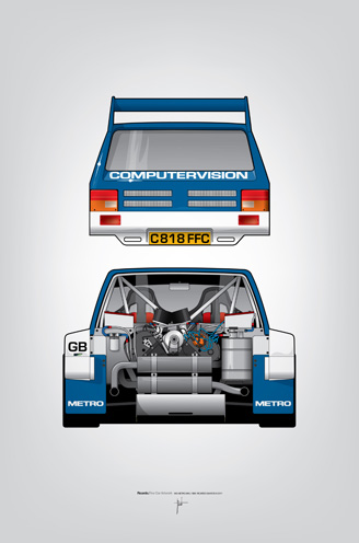 Outline Series N.º7, MG Metro 6R4, 1986