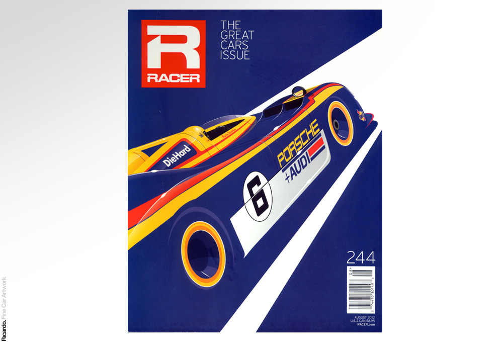 Illustration: Porsche 917-30, RACER Magazine August 2012 issue paper edition cover Client: RACER Magazine