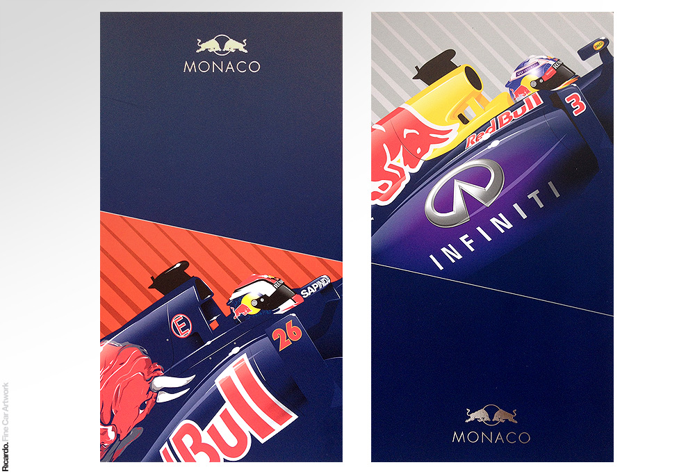 Illustrations: Monaco Grand Prix 2014   Client: Red Bull Racing and Scuderia Toro Rosso