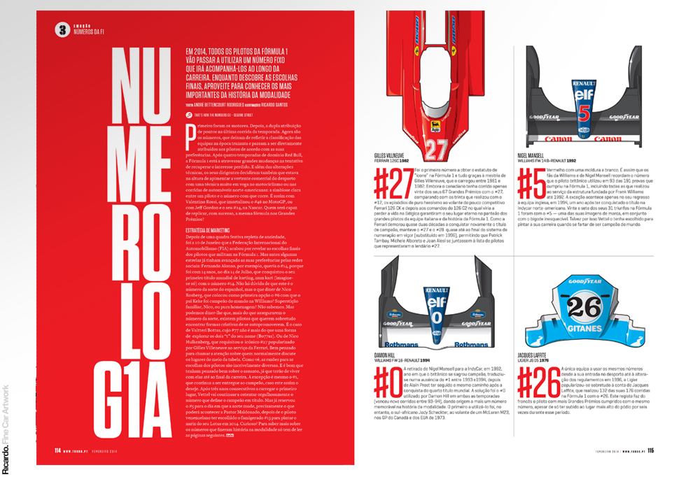 Illustration: Formula 1's iconic numbers Client: Turbo magazine
